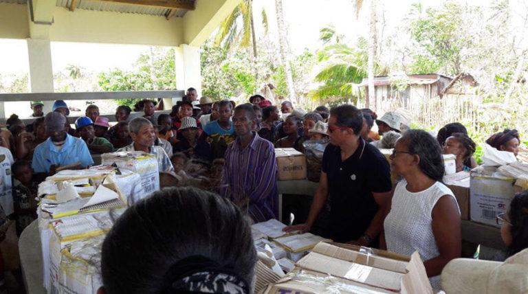 Toamasina - Victimes du cyclone AVA